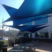 Fabric Shade Triangles Cool San Francisco Patio