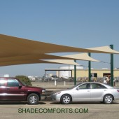Shade Sails Provide Employee Covered Parking 27