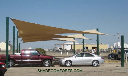 & Shade Sails Provide Employee Covered Parking 27