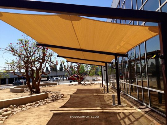 These Fabric Shade Panels Cool Company Employees On Patio At San Diego Gas  U0026 Electric. We Were Selected As The Design Build Contractor Responsible For  ...