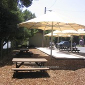 Giant Umbrellas Shade NorCAL Company Patio