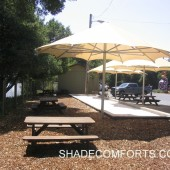 Shade Umbrellas 7 Bocce Ball Court California