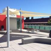 Tensile Shade Structure Palo Alto CA Patio 31